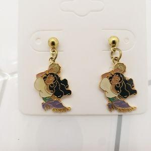 Disney Esmeralda enamel post earrings